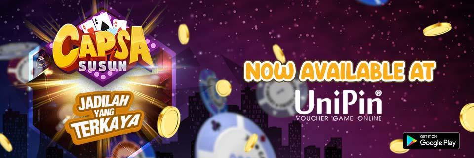 UniPin - Kini Capsa City sudah bisa top up pakai UniPin!