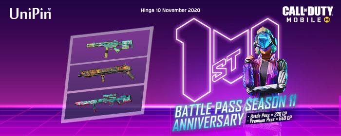 Battle Pass Season 11 Anniversary: Upgrade Sekarang dan Miliki Beragam Karakter Serta Senjata Epic!