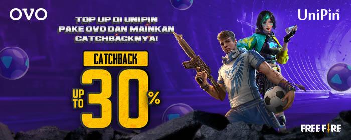 Catchback! Top Up #PakeOVO BIsa Dapat Cashback hingga 30%!