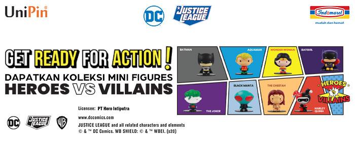 Dapatkan Mini Figures Heroes vs Villains dari Justice League di Indomaret!