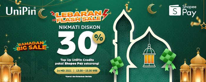 Rayakan lebaran bareng ShopeePay dan UniPin dapatkan diskon hingga Rp 20.000