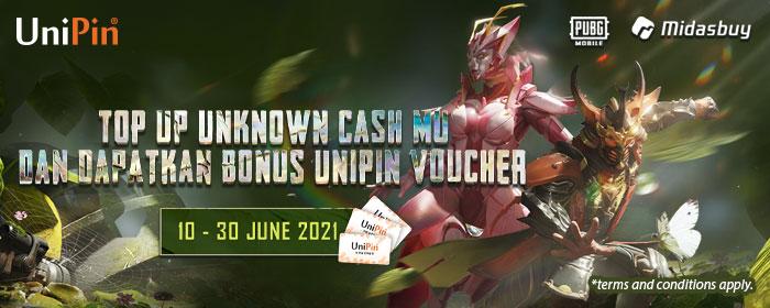 Top Up Unknown Cash PUBGM dan Dapatkan UniPin Voucher