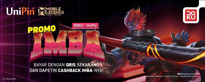 Rayakan promo IMBA bareng QRIS Doku Wallet di UniPin dan dapatkan skin MLBB gratis