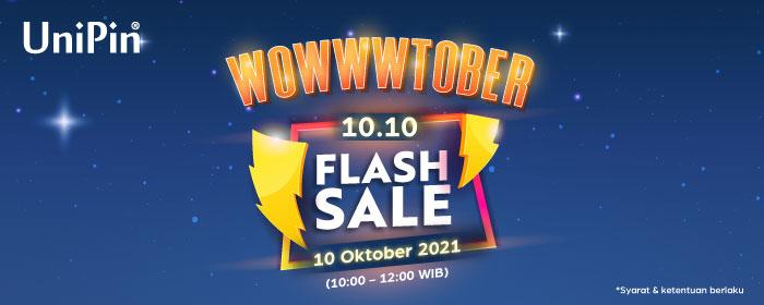 10.10  Flash Sale! Top Up UniPin Credits dan Dapatkan Diskon Sebesar Rp. 10.000!