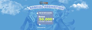 Top Up via Sakuku Bonus 50ribu UniPin Credits