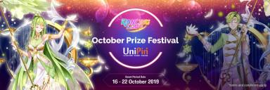 OCTOBER PRIZE FESTIVAL, DAPATKAN ITEM IN-GAME DAN BONUS UNIPIN CREDITS!