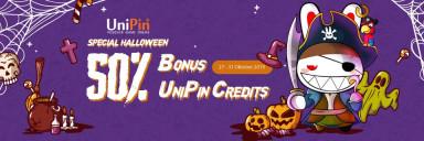 Top up RPs di UniPin, Bonus 50% Cashback UniPin Credits 50%!